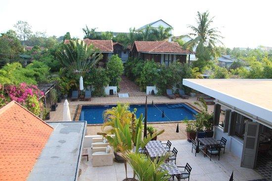 Bambu Battambang Hotel: View from room nr. 2