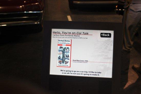 Car Talk interactive exhibit, National Museum of American History, April 2014