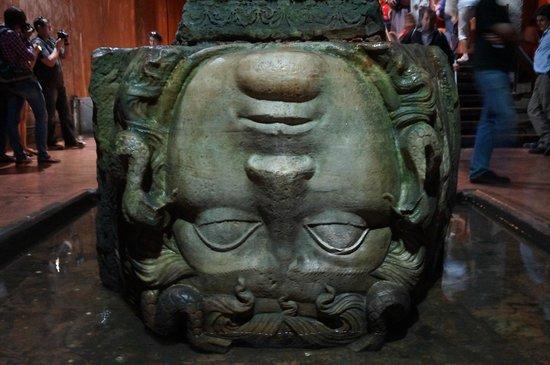 Basilica Cistern: Medusa head