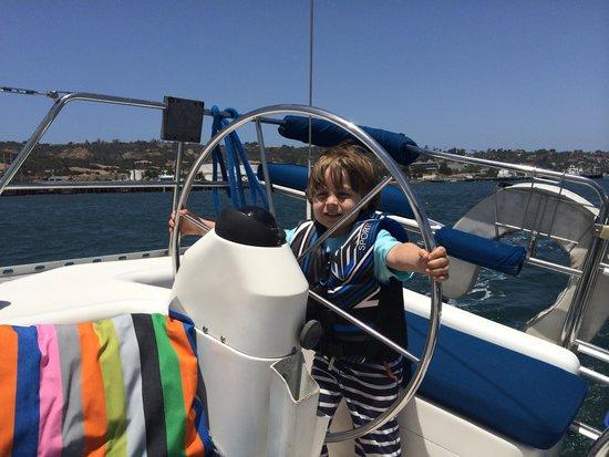 Sail San Diego: Jude's first sail