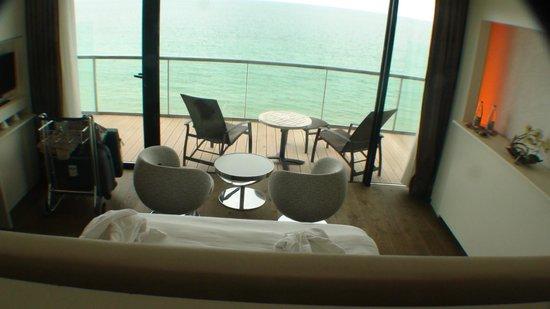 Hotel Oceania Saint Malo: Zicht vanuyit het bed