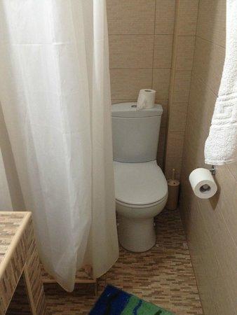 Evgenia Villas & Suites: Banheiro do segundo quarto que ficamos