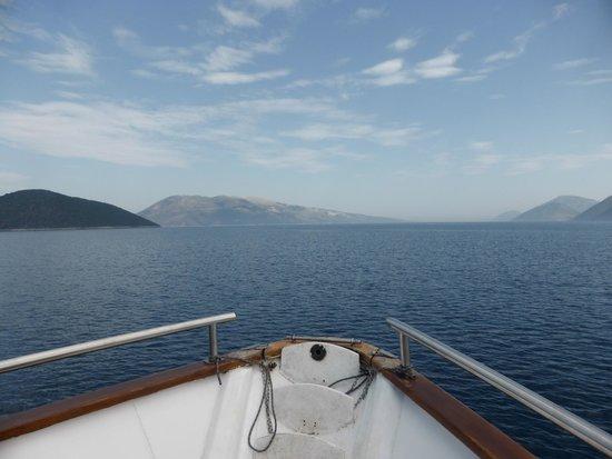 Captain Vangeli's Special Cruises: Uitzicht voorpunt