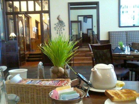 breakfast in the peacock dining room - hassayampa inn - prescott