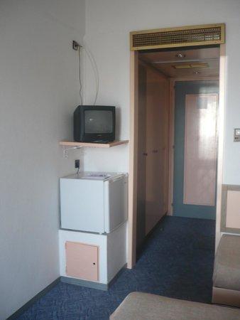 Rainbow Hotel: Fridge and TV
