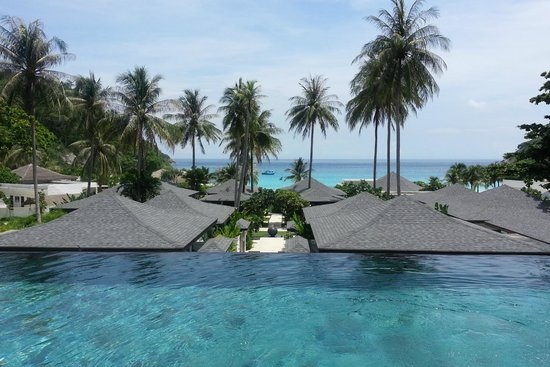 The Racha: view from 2 bedroom grand pool suite