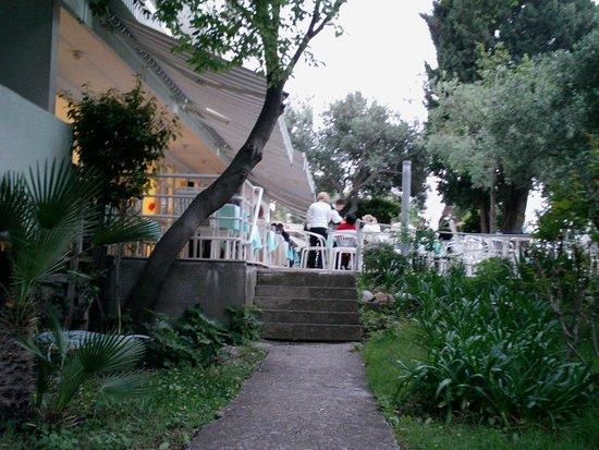 Hotel Orphee : Terrasse du testaurant