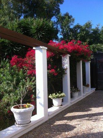 Grecian Bay Hotel : vers la piscine intérieure