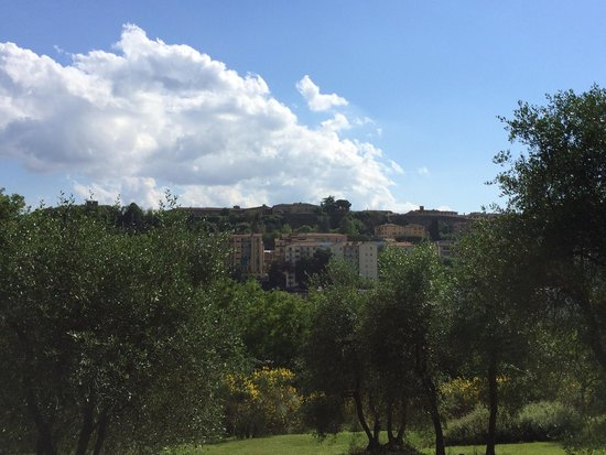 Borgo Grondaie : View from the BG gardens of the city center.