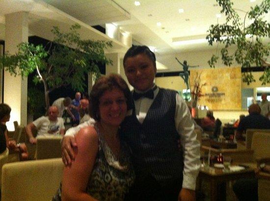 Luxury Bahia Principe Sian Ka'an Don Pablo Collection: At bar with Angela