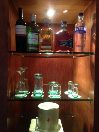 Excellence Playa Mujeres: EC Room drink selection before standard.