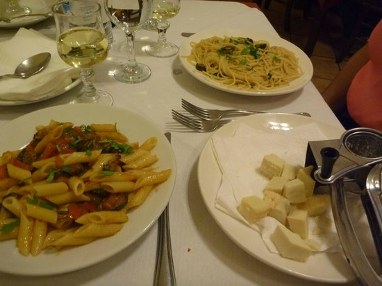 Gusto siciliano: Our first course, delicious pasta