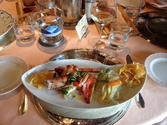 Bellevue Hotel & Spa : al ristorante, uno spledido e ottimo piatto a base di pesce