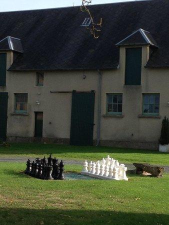 Le Hommet-d'Arthenay, France : Yard Chess Game