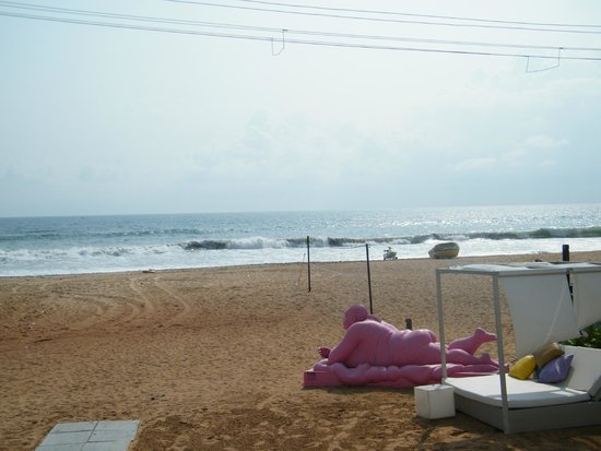 The Park Calangute Goa: Beach view from hotel