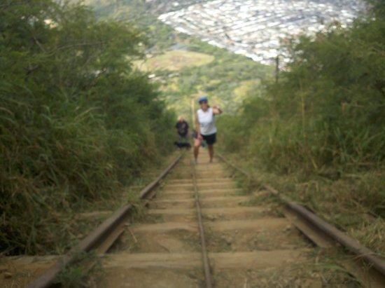 Koko Crater Trail: look down