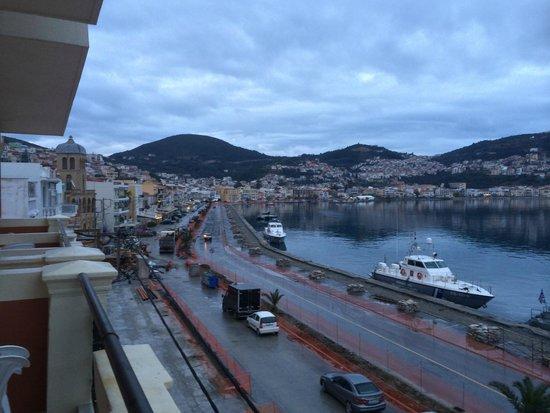 Samos City Hotel: View From The Balcony