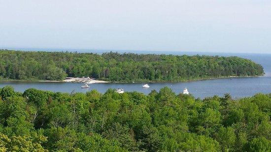 Campground at Peninsula State Park : One of many great views