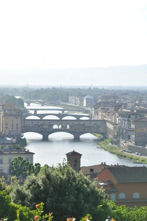 Piazzale Michelangelo: View of the Arno and Ponte Vecchio, Florence