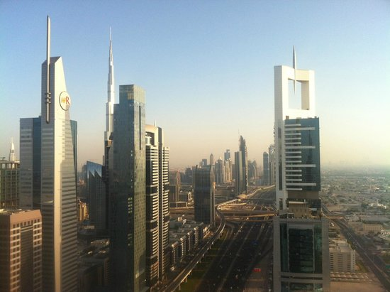 Four Points by Sheraton Sheikh Zayed Road, Dubai: View from the rooftop pool and bar
