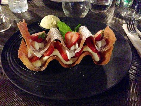 Le Top Grill : Dessert du jour vraiment parfait !