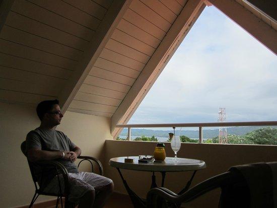 Luxury Bahia Principe Cayo Levantado: me on our balcony