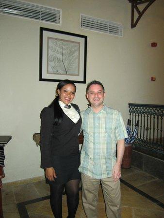 Luxury Bahia Principe Cayo Levantado Don Pablo Collection: Me and the hostess at Don Pablo restaurant