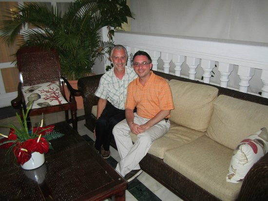Luxury Bahia Principe Cayo Levantado Don Pablo Collection: Us two relaxing on porch area to lower terrace