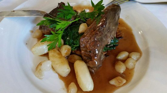 THE OLIVE BRANCH BISTRO: Beef bourguignon, a generous melt in the mouth portion with lovely vegetables.
