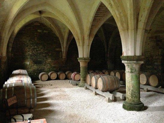 Abbaye de la Bussiere : Cellar