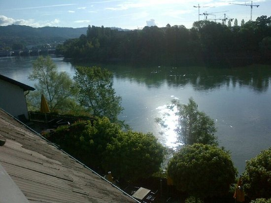 Ringhotel Goldener Knopf: View down the Rhine from my room