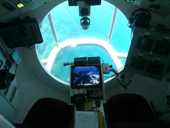 Aventura submarina: View from the Captains seat