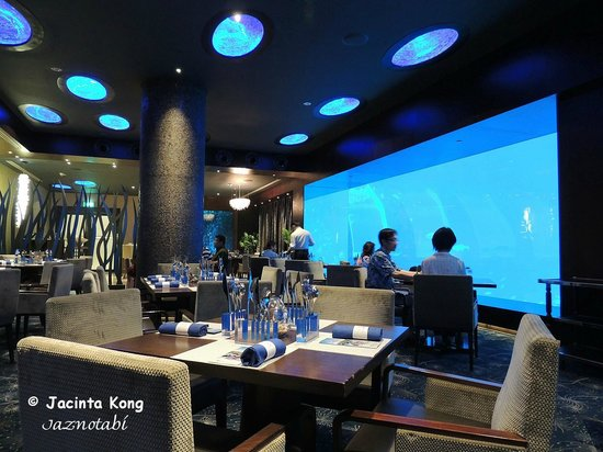 Ocean Restaurant by Chef Cat Cora: Dining with a view of undersea life