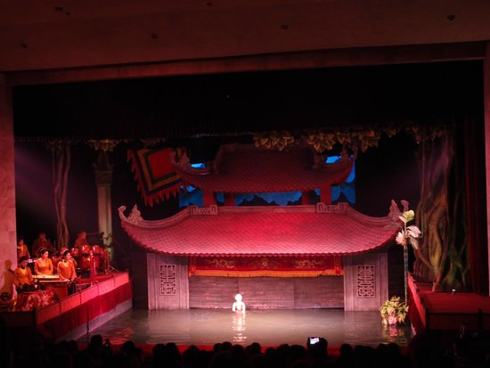 Thang Long Water Puppet Theater: Backdrop of the water puppet show