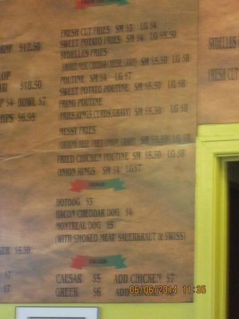 Sydelle's Fish and Chips: Menu Board