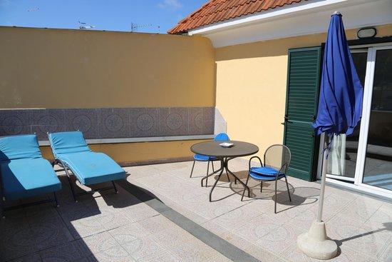 Aragona Palace Hotel : la terrazza della nostra camera