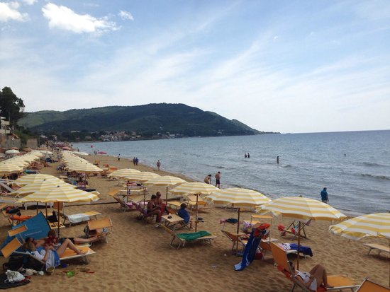 View from the Lido Azzurro along the beach...