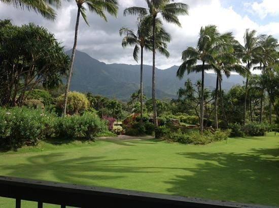 Hanalei Bay Resort: View from the lanai of condo 1206