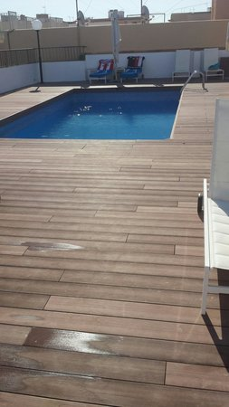 pool auf dem dach picture of whala beach el arenal tripadvisor. Black Bedroom Furniture Sets. Home Design Ideas