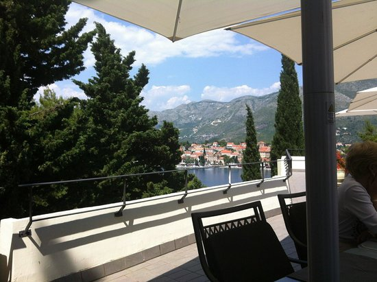 Hotel Croatia Cavtat : view from the terrace restaurant