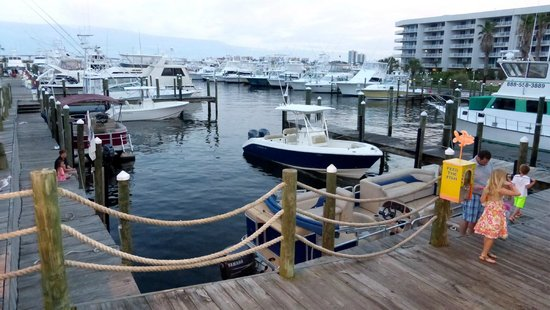 Shipp's Harbour Grill : View of boats while waiting for a table.