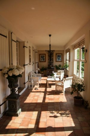 Moulin de la Ville : The long front room which doubles as dining & sunroom