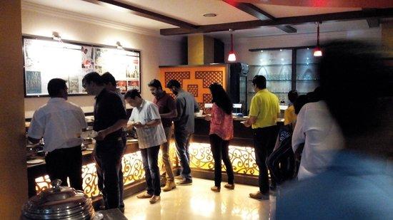 Udaipuri: buffet setup