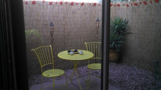 Desert Riviera Hotel : Private Patio perfect for morning coffee