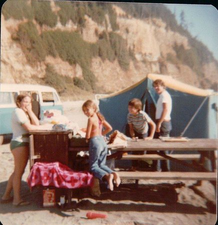 Gold Bluffs Beach Campground: Our family in 1979