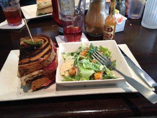 Busboys and Poets: Reuben with side Caesar salad