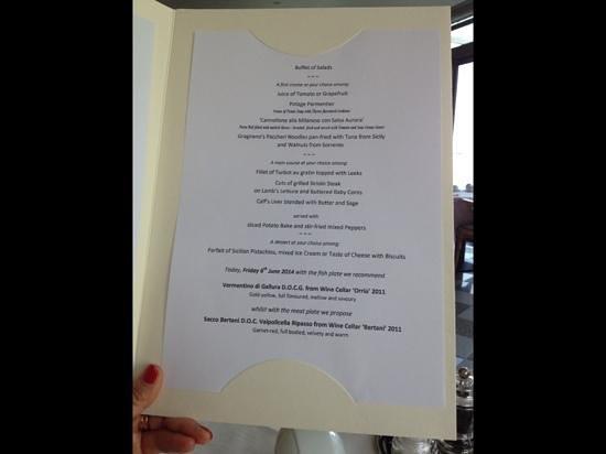 Hotel Val di Sogno: typical menu
