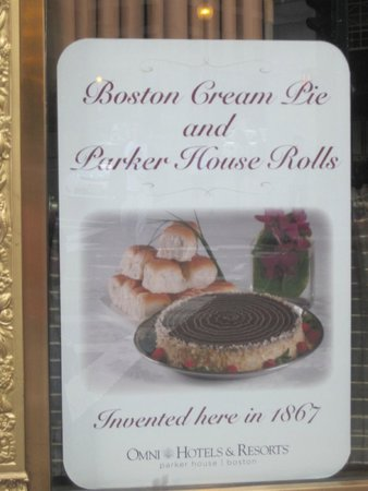 Omni Parker House: home of Boston Cream Pie