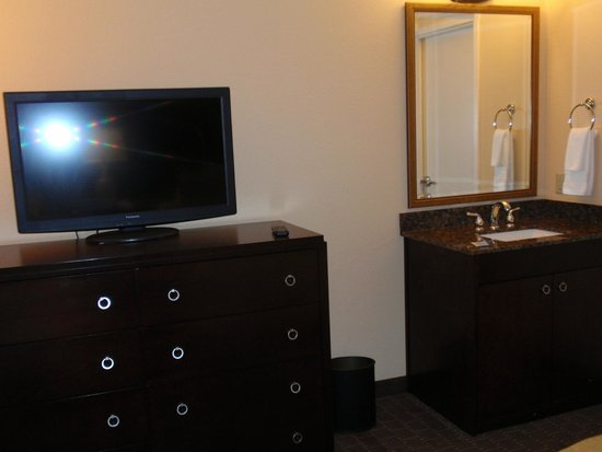 Embassy Suites by Hilton Orlando Lake Buena Vista South: TV in our bedroom