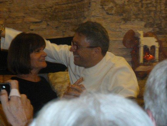 Ristorante Terme di Diocleziano : Dario ending dance with fellow group traveller - good times!